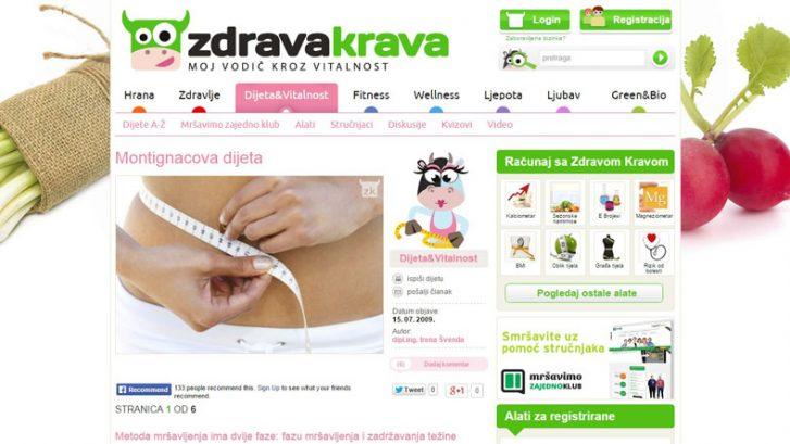 Montignacova dijeta na Zdrava Krava, by Irena Švenda, Adhara Nutricionizam
